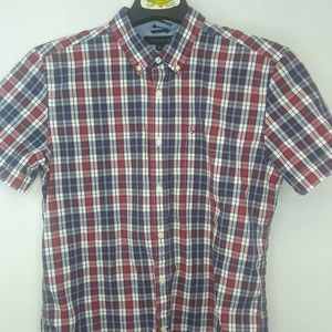 Tommy Hilfiger Plaid Shirt Mens Size Large